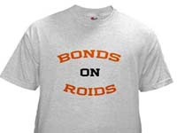 barry bonds on roids shirt